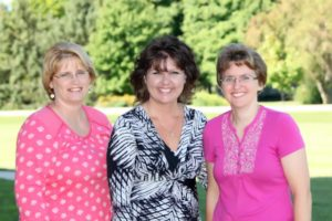 Our teachers (left to right) are Jean, Tracy, and Mellissa!